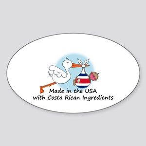 Stork Baby Costa Rica USA Sticker (Oval)