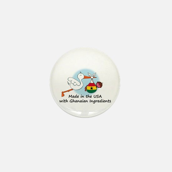 Stork Baby Ghana USA Mini Button