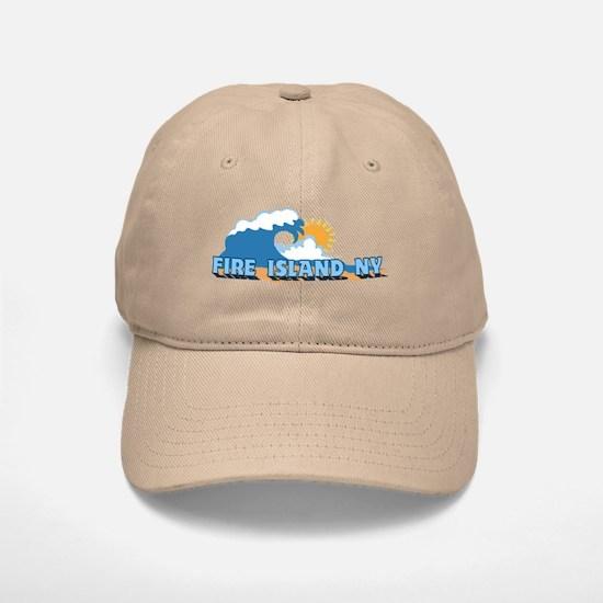 Fire Island - Waves Design Baseball Baseball Cap