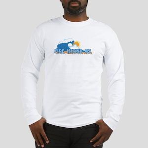 Fire Island - Waves Design Long Sleeve T-Shirt