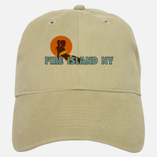 Fire Island - Sunbathing Design Baseball Baseball Cap