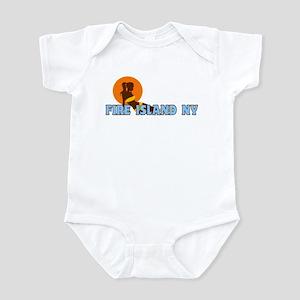 Fire Island - Sunbathing Design Infant Bodysuit