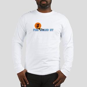 Fire Island - Sunbathing Design Long Sleeve T-Shir