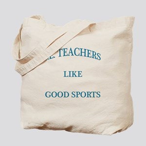 P.E. Teachers Sports Blue Letters Tote Bag