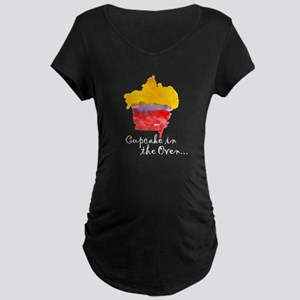 "Maternity ""Cupcake in the Oven"" Tee (Black)"