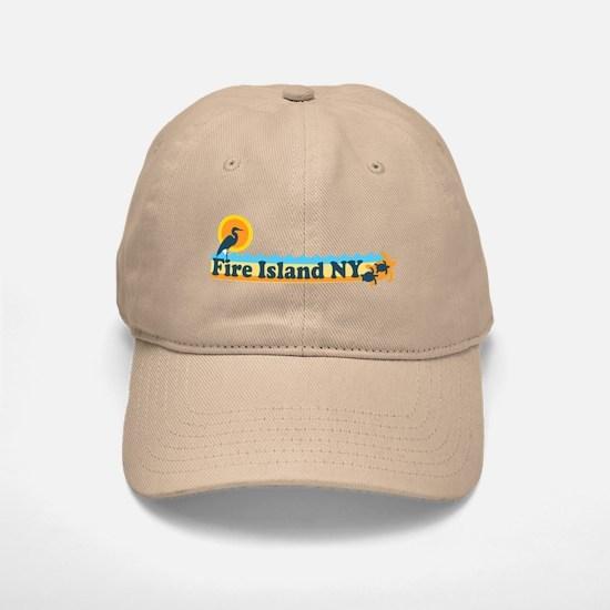 Fire Island - Beach Design Baseball Baseball Cap