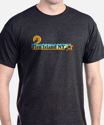 Fire Island - Beach Design T-Shirt