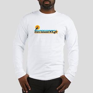Fire Island - Beach Design Long Sleeve T-Shirt