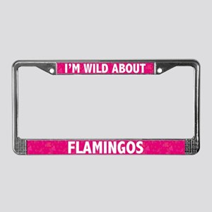 Flamingo License Plate Frame
