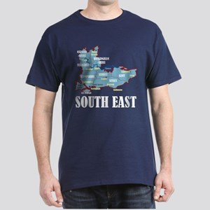 South East Map Dark T-Shirt