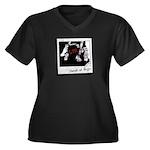 Photo Women's Plus Size V-Neck Dark T-Shirt