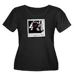 Photo Women's Plus Size Scoop Neck Dark T-Shirt