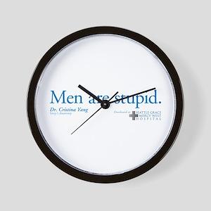 Men Are Stupid Wall Clock