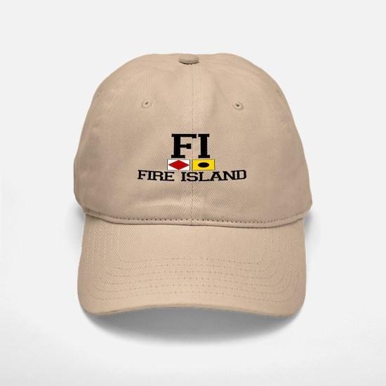 Fire Island - Nautical Design Baseball Baseball Cap