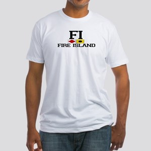 Fire Island - Nautical Design Fitted T-Shirt
