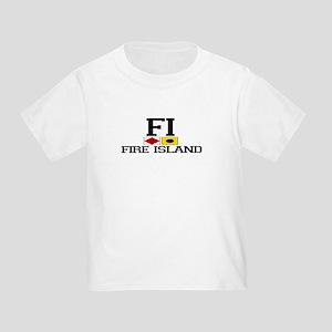 Fire Island - Nautical Design Toddler T-Shi