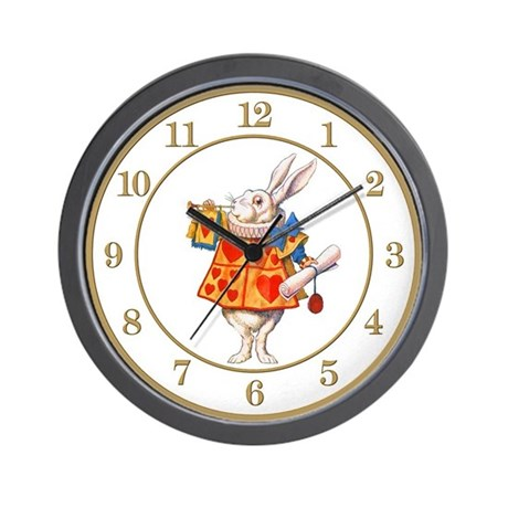Alice in wonderland clocks wall clock by wonderland shop - Mondaine wall clock cm ...