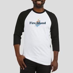 Fire Island - Seashells Design Baseball Jersey