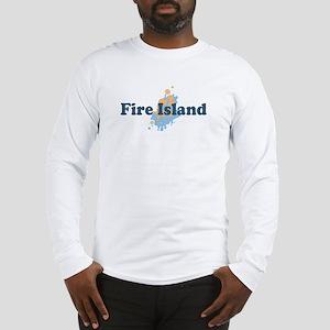 Fire Island - Seashells Design Long Sleeve T-Shirt