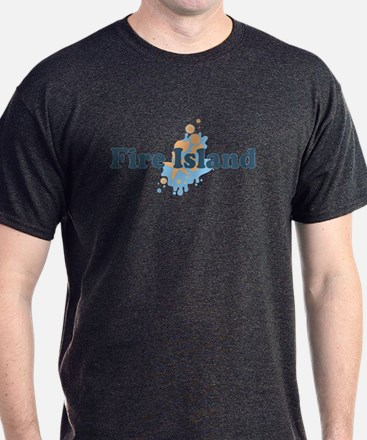 Fire Island - Seashells Design T-Shirt
