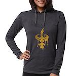 Dagger Drip (gold) Women's Long Sleeve T-Shirt