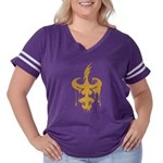 Dagger Drip Women's Plus Size Football T-Shirt