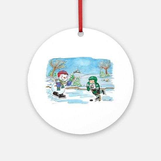 Hockey Holidays! Ornament (Round)
