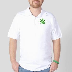 Marijuana Leaf Golf Shirt