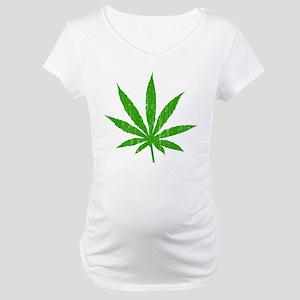 Marijuana Leaf Maternity T-Shirt