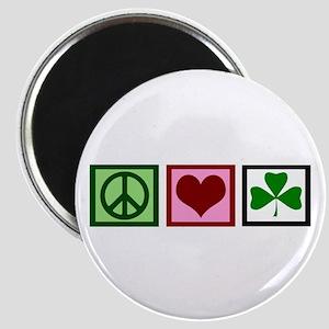 Peace Love Ireland Magnet