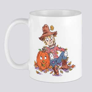 scarecrow and pumpkin Mug