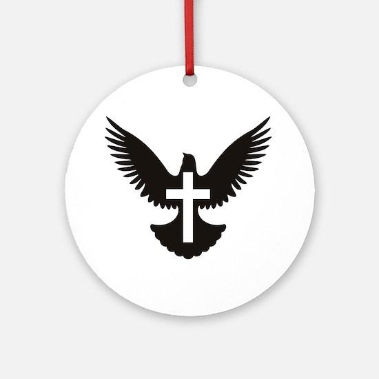 Dove cross Ornament (Round)