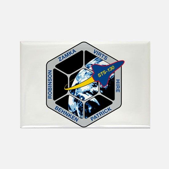 STS 130 Rectangle Magnet