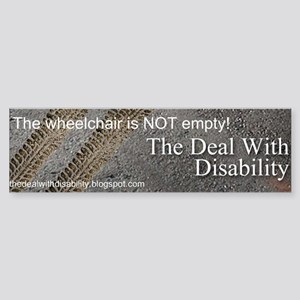 The wheelchair is NOT empty! Sticker (Bumper)