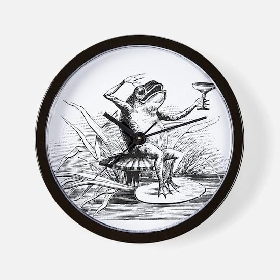 Drinking Frog Wall Clock