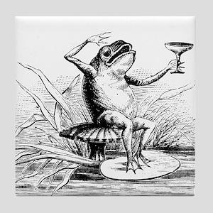 Drinking Frog Tile Coaster
