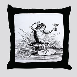 Drinking Frog Throw Pillow