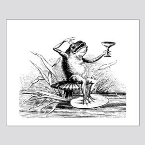 Drinking Frog Small Poster