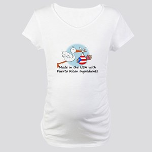 Stork Baby Puerto Rico USA Maternity T-Shirt