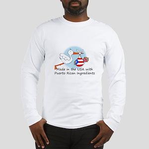 Stork Baby Puerto Rico USA Long Sleeve T-Shirt
