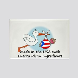 Stork Baby Puerto Rico USA Rectangle Magnet