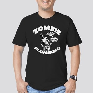 Zombie Plumbing Men's Fitted T-Shirt (dark)