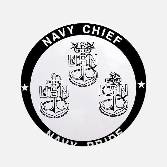 "Cute Navy chief 3.5"" Button"