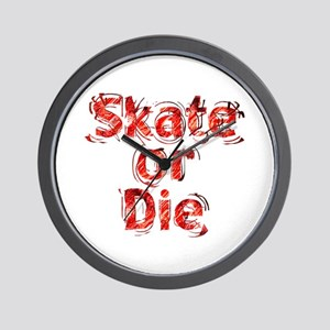 Skate or Die Wall Clock