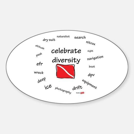 Celebrate diversity Sticker (Oval)