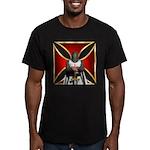 Templar and Cross Men's Fitted T-Shirt (dark)