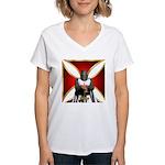 Templar and Cross Women's V-Neck T-Shirt