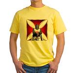 Templar and Cross Yellow T-Shirt
