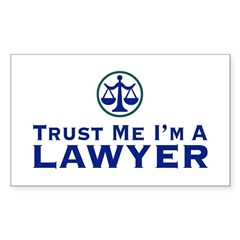 Trust Me I'm a Lawyer Rectangle Decal