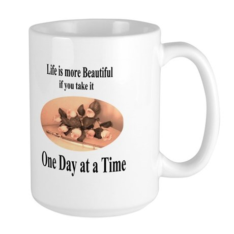 Large 'One Day at a Time' Mug